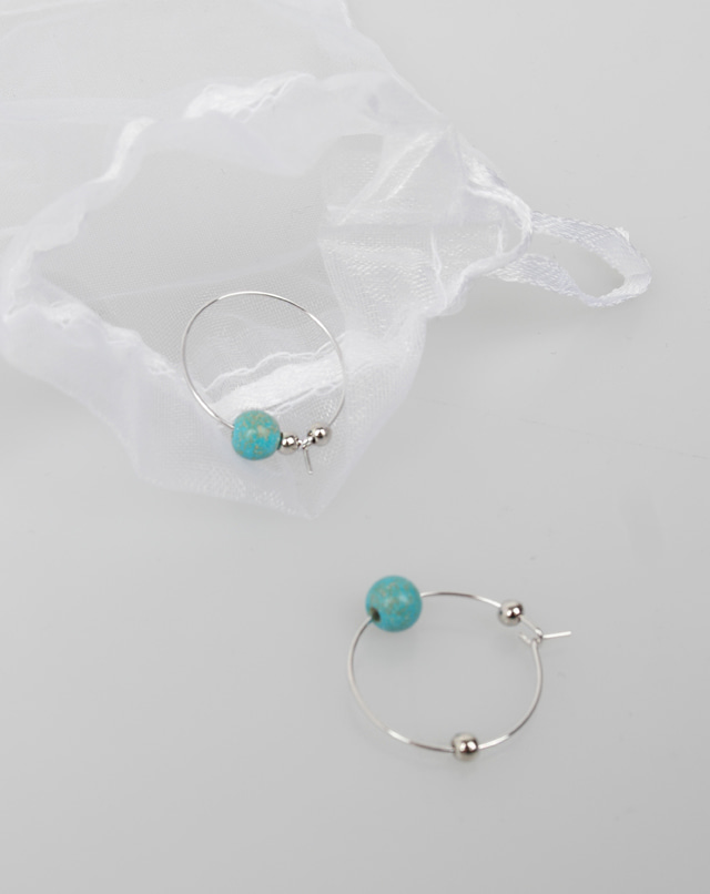 dreseoul-[E438] turquoise earring - DRE♡韓國女裝飾品