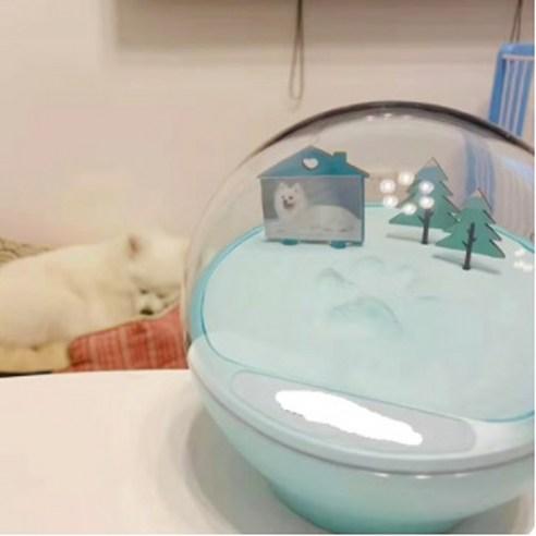 강아지 고양이 노견 노묘 생일 기념 선물 발자국 발 도장 추억 액세서리스카이블루 紀念手印相框