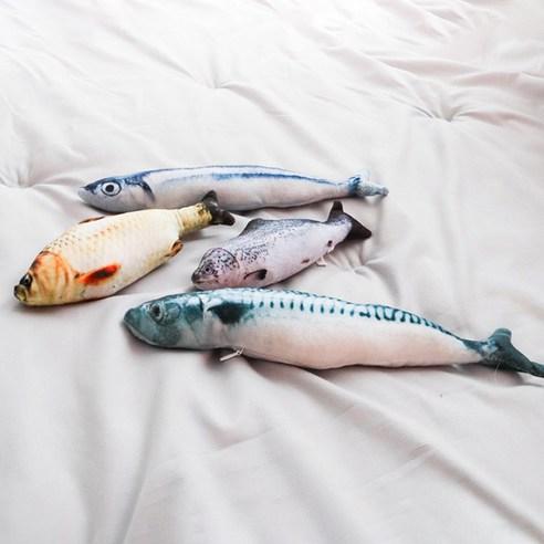 딩동펫 고양이 캣닢 물고기 인형 4종 세트
