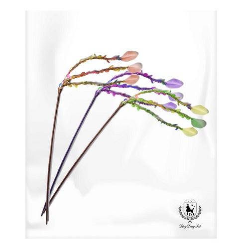 딩동펫 반려동물 고양이 삼줄깃털 낚싯대 3종세트