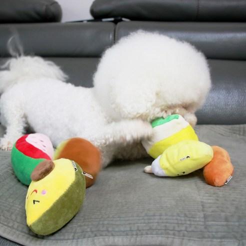 리스펫 강아지 디저트 봉제인형 장난감 6종 세트