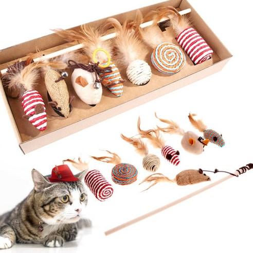[냥살림] 낚시대 막대 쥐돌이 고양이 장난감 냥냥 7종세트