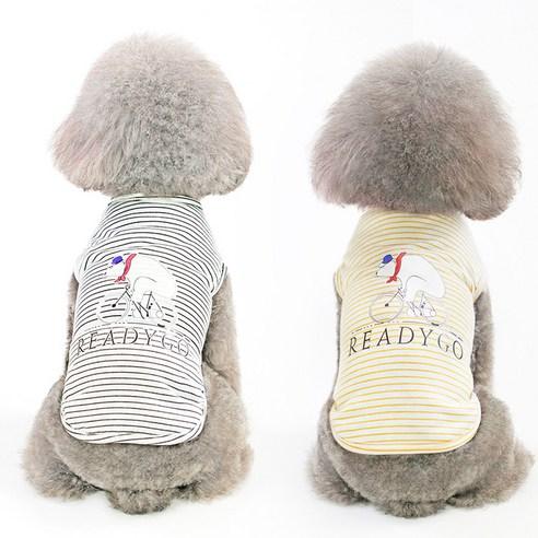 펫츠랜드 강아지 봉쥬르 티셔츠 2p블랙,