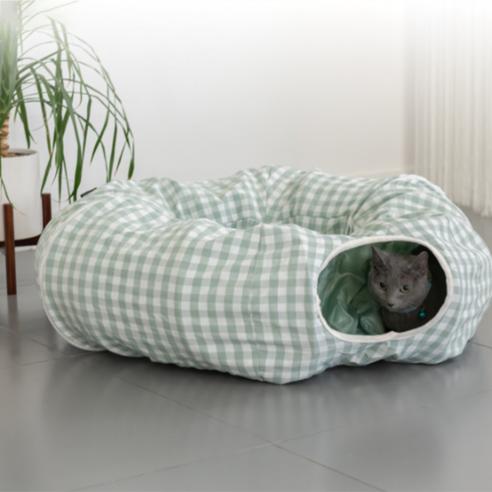 세븐펫 숨숨터널 고양이 터널 하우스 장난감그린