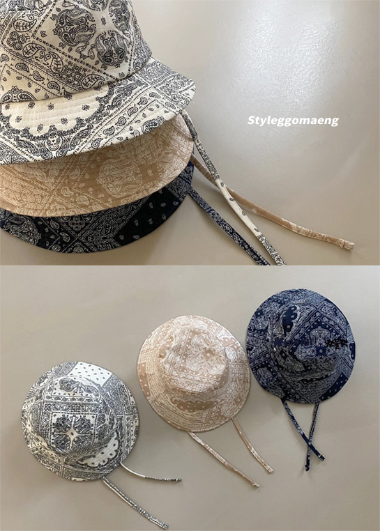 styleggom-페이즐리 벙거지♡童裝飾品