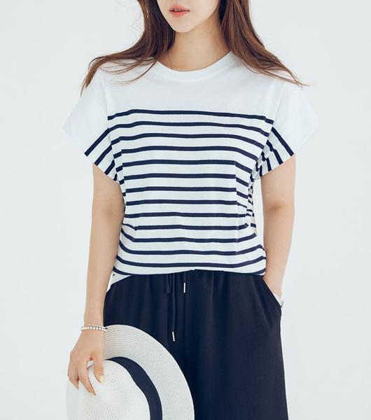 roompacker-룸페커 [가오리핏 S/T 커버 티셔츠]♡韓國女裝上衣