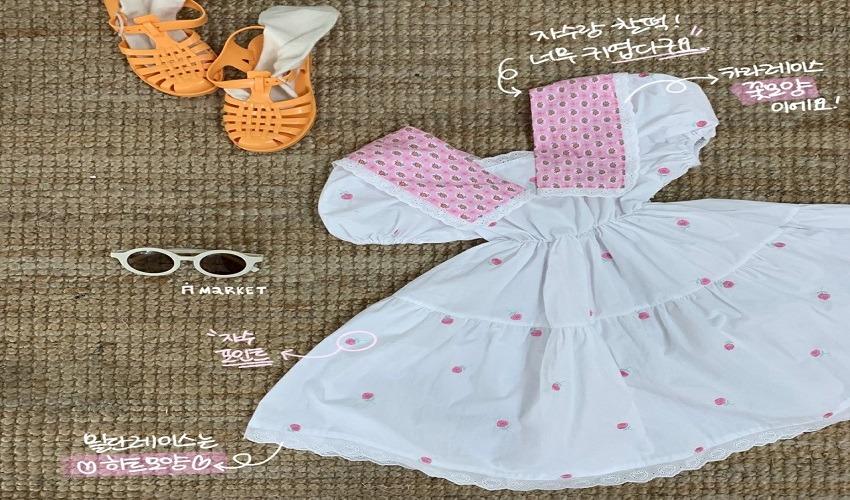 lovely2min-에이마켓 카라레이스원피스 (S~XXL) - lovely2min♡韓國童裝連身裙