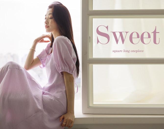 chichera-세련된 그녀들의 선택, 시크헤라[스윗스퀘어롱원피스]♡韓國女裝連身裙