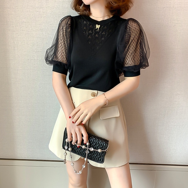 fashion-full-케리타 브롯치 니트(TIME SALE 20%)♡韓國女裝上衣