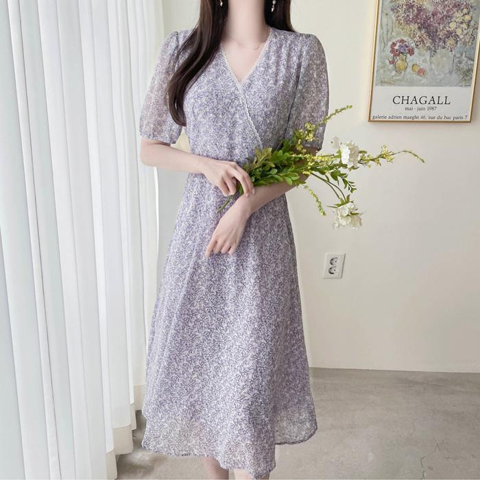 myfiona-퓨어라일락 레이스 랩 쉬폰 롱원피스 a1564 - 러블리 로맨틱 1위 쇼핑몰 피오나♡韓國女裝連身裙