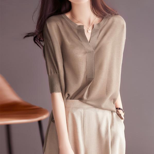 fashion-full-브리즌 트임 7부 니트(TIME SALE 20%)♡韓國女裝上衣