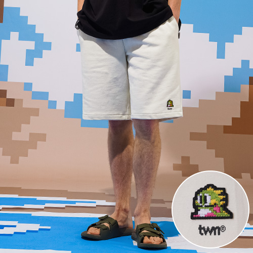 fairplay142-[[티떠블유엔X버블보블] 버블패치 숏팬츠 아이보리 STSP3361]♡韓國男裝褲子