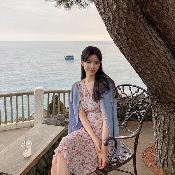 benito-[made] The Edel 나포리 진달래 원피스 신상/베스트/휴양지/랩/원피스/반팔/여성/데일리♡韓國女裝連身裙
