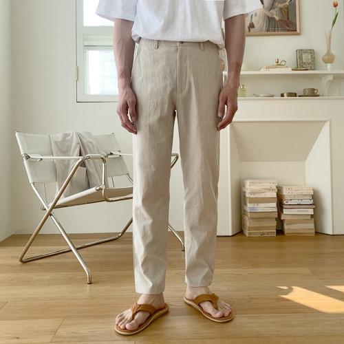 modernsweet-린넨 스탠다드 밴딩 팬츠 (S~XL) / 8color - 모던스윗(modernsweet)♡韓國男裝褲子