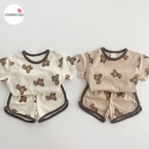 cooingkids-T베어상하세트♡韓國童裝套裝