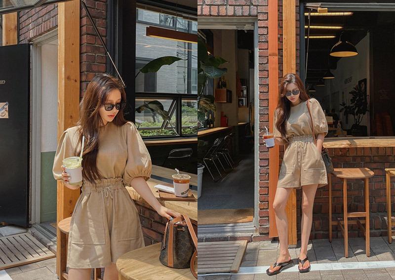 maybins-젬므 블라우스&팬츠set♡韓國女裝套裝