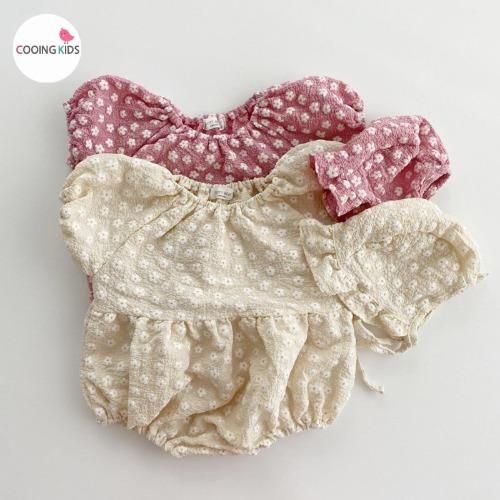 cooingkids-베이비옷 - T미니꽃슈트(보넷세트)♡韓國幼兒裝