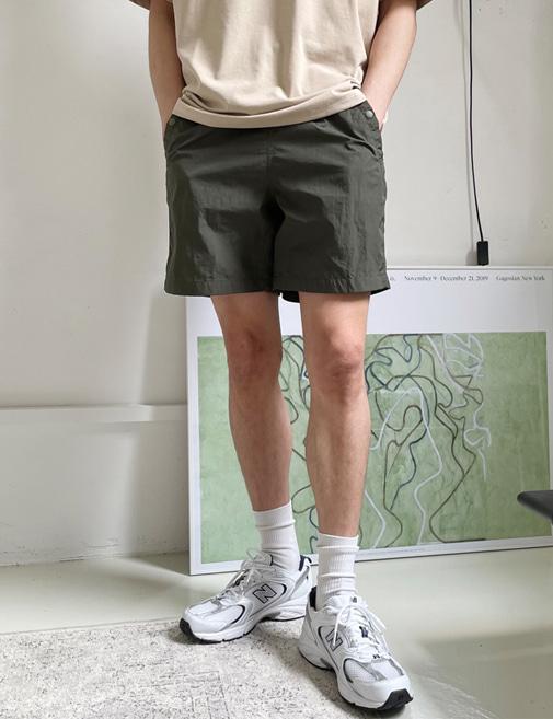 new-more-프리미엄 스냅 메쉬 1/2 팬츠♡韓國男裝褲子