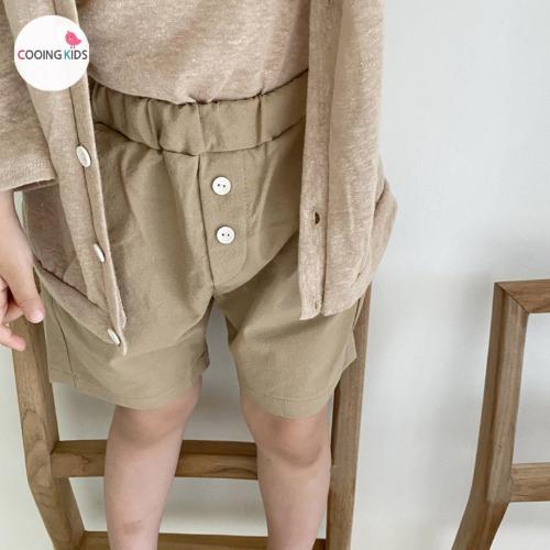 cooingkids-T린넨팬츠♡韓國童裝褲