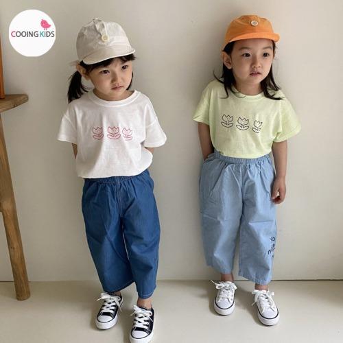 cooingkids-T튤립티셔츠♡韓國童裝上衣