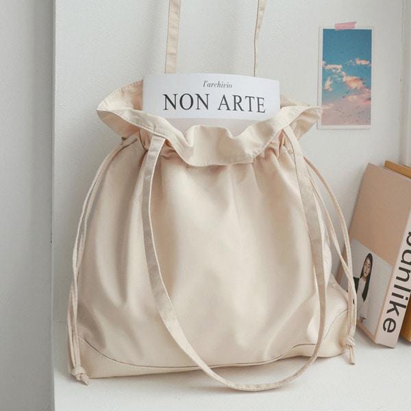 everytail-콤비 복조리 숄더백♡韓國女裝袋