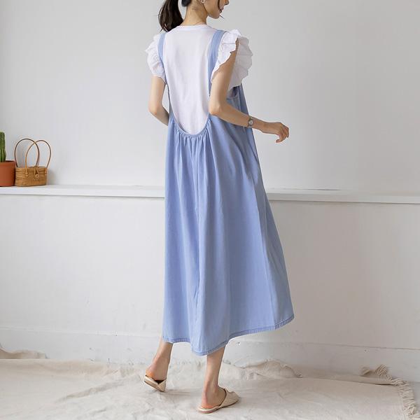 misscandy-[no.20554 백셔링 소프트데님 롱원피스]♡韓國女裝連身裙