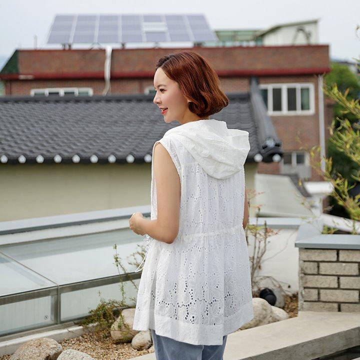 lemite-후드에 레이스조끼♡韓國女裝外套