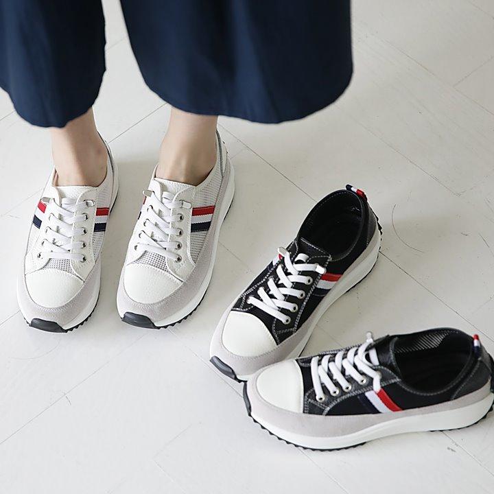 lemite-쓰리펀칭 스니커즈♡韓國女裝鞋