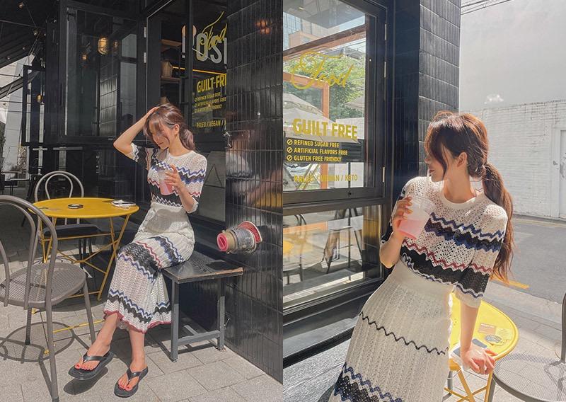 maybins-프로엔 니트&스커트set♡韓國女裝套裝
