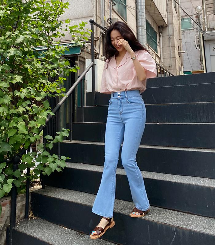 sibuya-[하이 스판 연청 부츠컷 pt]♡韓國女裝褲