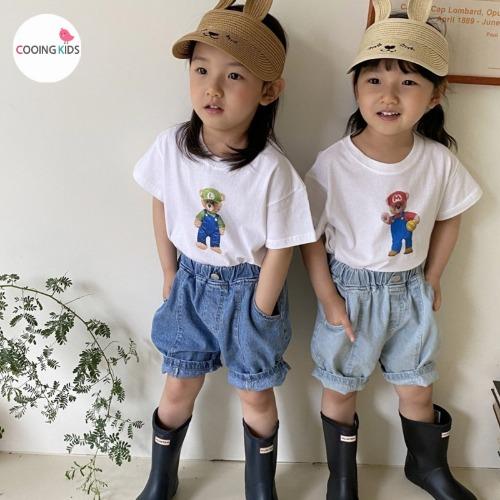 cooingkids-T마리오티셔츠♡韓國童裝上衣