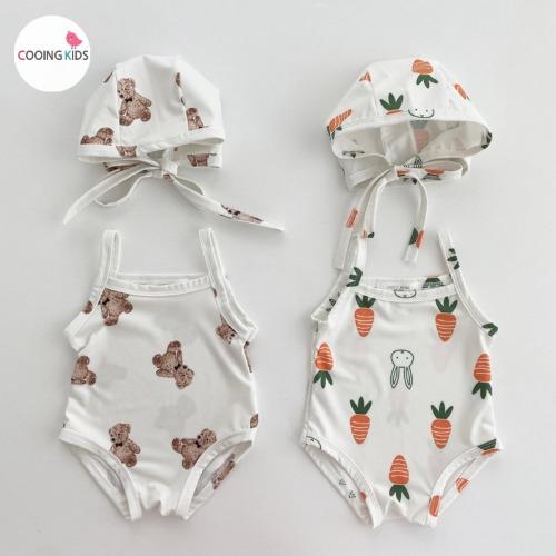 cooingkids-베이비옷 - T야채n태디수영복(모자세트)♡韓國幼兒裝