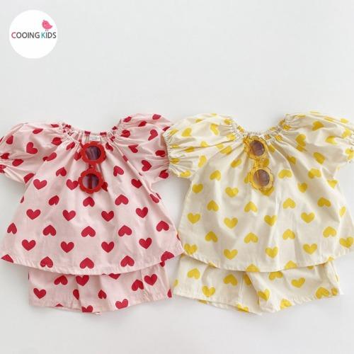 cooingkids-T하뚜심쿵상하세트♡韓國童裝套裝