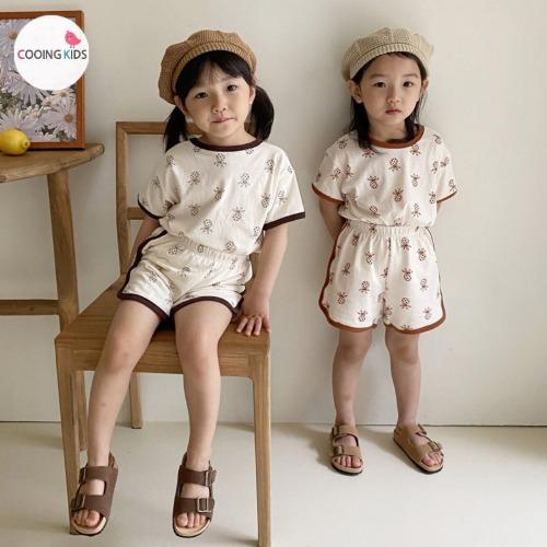 cooingkids-T파인애플상하복세트♡韓國童裝套裝
