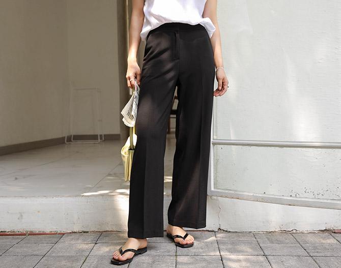 chichera-세련된 그녀들의 선택, 시크헤라[라이트쿨와이드밴딩슬랙스]♡韓國女裝褲