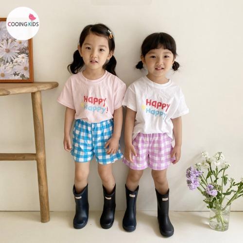 cooingkids-T해피체크상하세트♡韓國童裝套裝