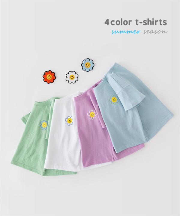 harukids-삐죽얼굴티셔츠[티셔츠BDDW82]♡韓國童裝上衣