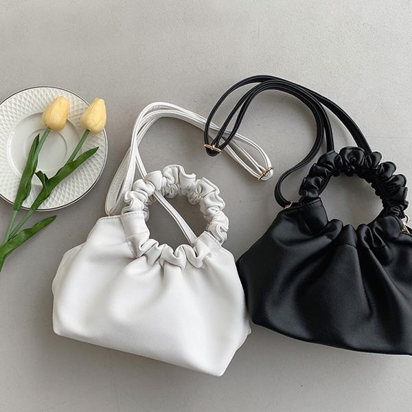 chicfox-오링스트링 쭈글이숄더백♡韓國女裝袋