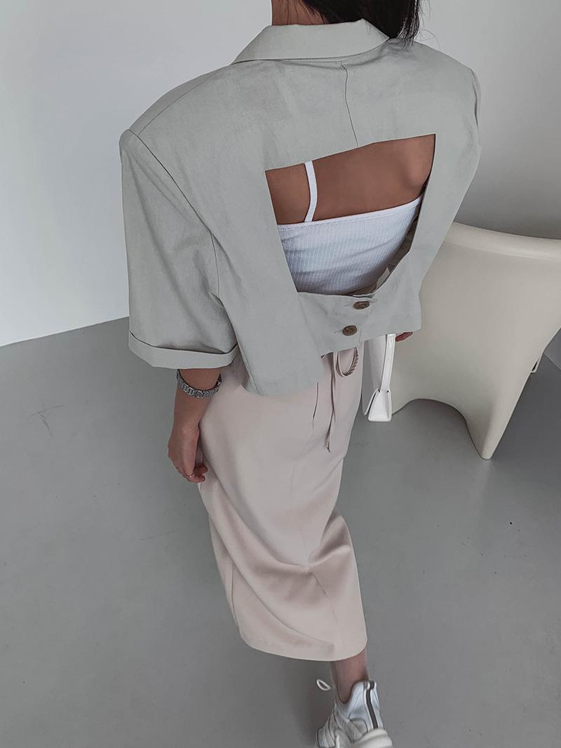 crazygirls-스퀘어백버튼자켓-jk♡韓國女裝外套