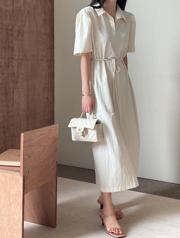 ssumj-포아 퍼프 원피스(3col)♡韓國女裝連身裙