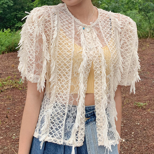 unbutton-[코코 레이스-jk]♡韓國女裝外套