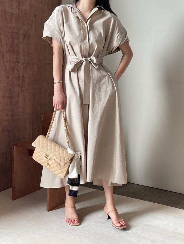 ssumj-어쿠스 벨트 원피스(3col)♡韓國女裝連身裙