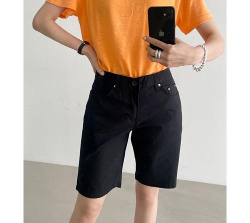 beige blanc-스판짱짱 편안한 여름 5부 코튼 반바지]♡韓國女裝褲