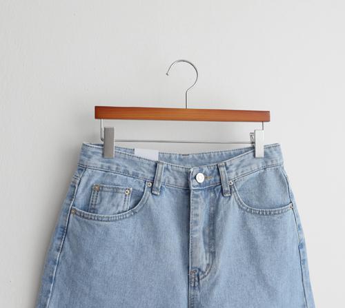 beige blanc-슈가 4부 연청 데님 팬츠]♡韓國女裝褲
