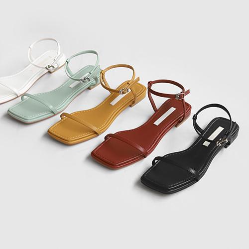 sappun-베어텐 스트랩 샌들 (1.5cm)♡韓國女裝鞋
