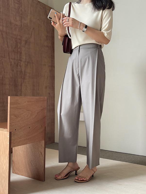 ssumj-로메인 핀턱 팬츠(3col)♡韓國女裝褲