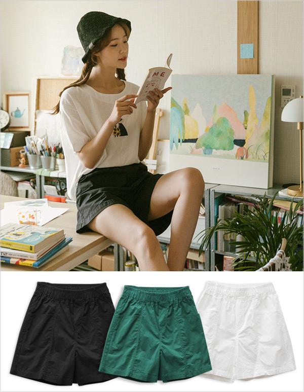 goroke-[사그락 반바지*3c]♡韓國女裝褲