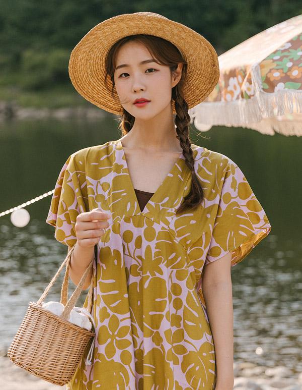 goroke-[몬스테라 ops*2c]♡韓國女裝連身裙