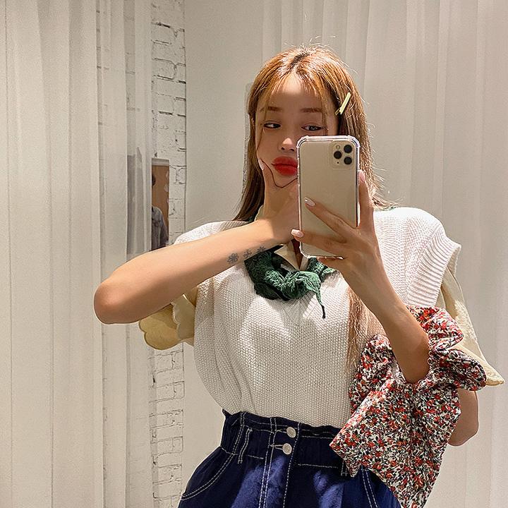 lagirl-패드V넥니트조끼-vest♡韓國女裝外套