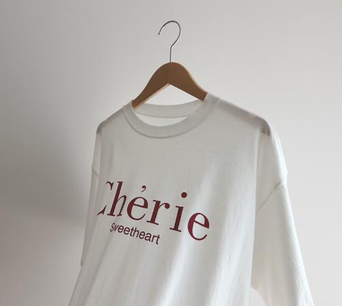 beige blanc-스윗 쉐리 루즈핏 라운드 티셔츠]♡韓國女裝上衣